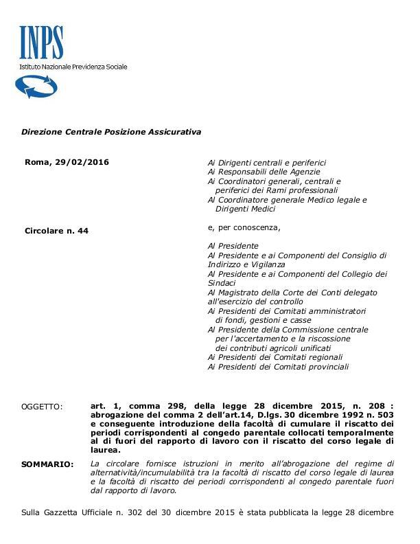 INPS emana circolare Page-1